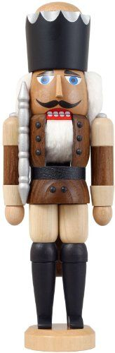 German nutcracker King ashtree brown height 29 cm  11 inch original Erzgebirge by Seiffener Volkskunst -- Be sure to check out this awesome product.