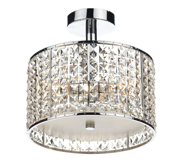 Decorative polished chrome and crystal bathroom ceiling light with opal glass diffuser. rated for safe use in bathroom zones 1 and a great piece of lighting ...  sc 1 st  Pinterest & 14 best Bathroom lights images on Pinterest | Bathroom ceiling ... azcodes.com