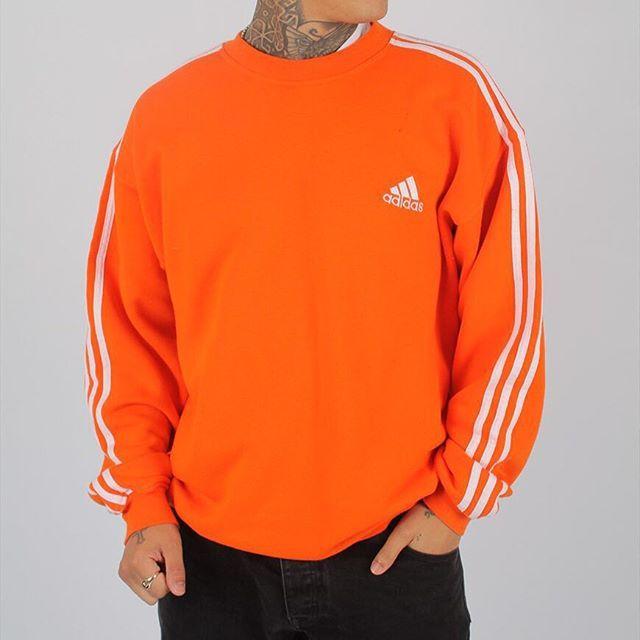adidas sweatshirt orange