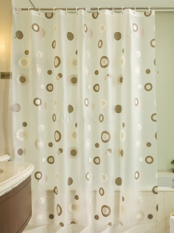 Sweet Polka Dot Peva Shower Curtain In Curtains From Home Garden On Aliexpress
