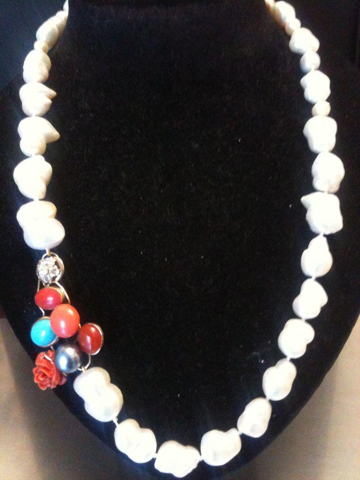 Collana perle barocche ... www.diogenesarte.com