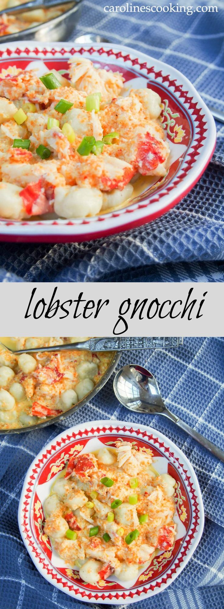 Lobster gnocchi - delicious potato gnocchi with a hint of smooth goat's cheese in a flavorful, creamy lobster sauce. Delicate flavors, incredibly tasty.