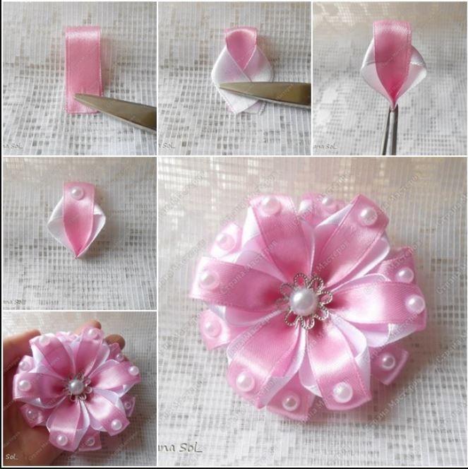 Ribbon flower.