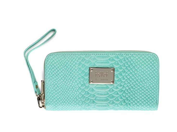 blue, aqua, summer, portemonnee, purse, leather goods, ikki Fashion