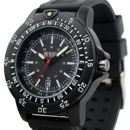 Brand Swiss Design Men's Black Dial Military Functional Bezel Army Watch MR063 $16.99 http://roksmu.blogspot.com/2014/07/army-watch.html