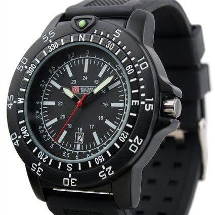 Brand Swiss Design Men's Black Dial Military Functional Bezel Army Watch MR063 $16.99 http://roksmu.blogspot.com/2014/07/army-watch.html