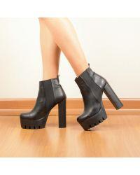 Siyah Lastikli Platform Topuklu Bot   #black #siyah #kisabot #platform #heels #bootie #bot #topukluayakkabı #topukluayakkabi #moda #modavapuru #fashion #style #stil #winter