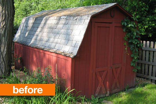 Before & After: A Shed Goes from Farmhouse to Modern Design Milk