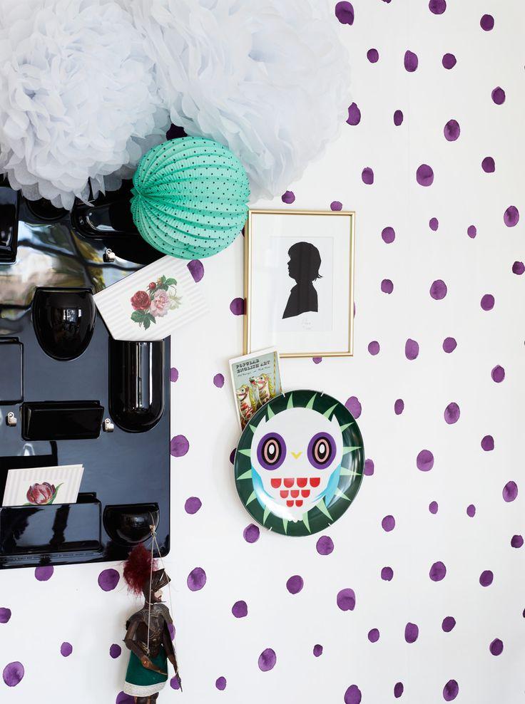 Nærbilde av tapetet: Trend! by Fargerike: I Love Polkadot!