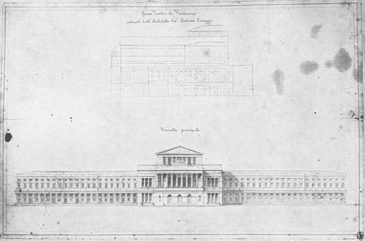 Teatr Wielki w Warszawie, rysunek z 1833 roku
