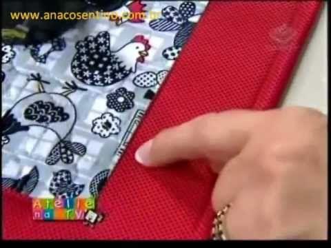 Patchwork com Ana Cosentino: Jogo Americano Natal 2012 (Ateliê na TV) - YouTube