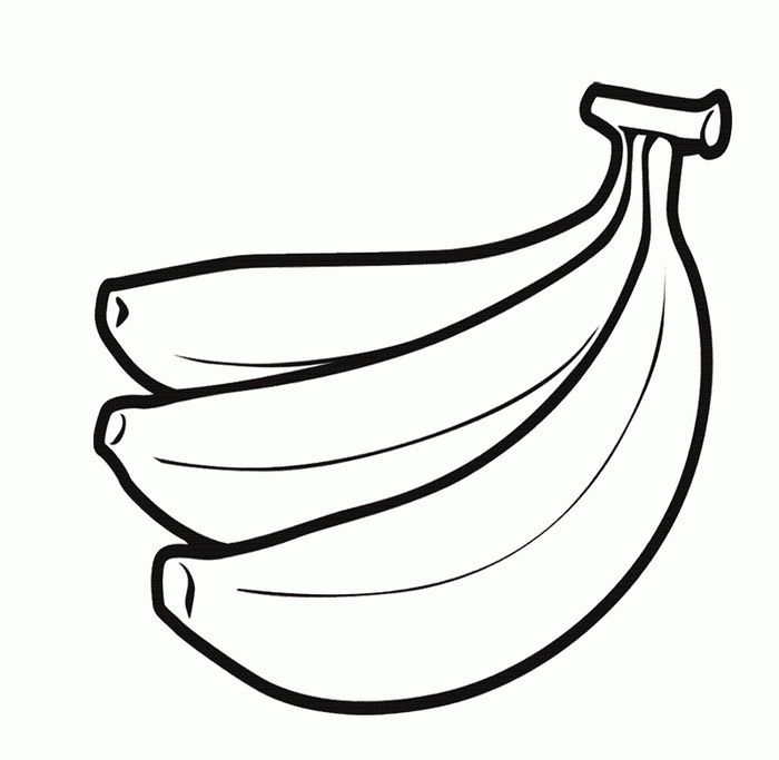 Banana Fruit Coloring Pages Coloring Pages For Kids Coloring Pages