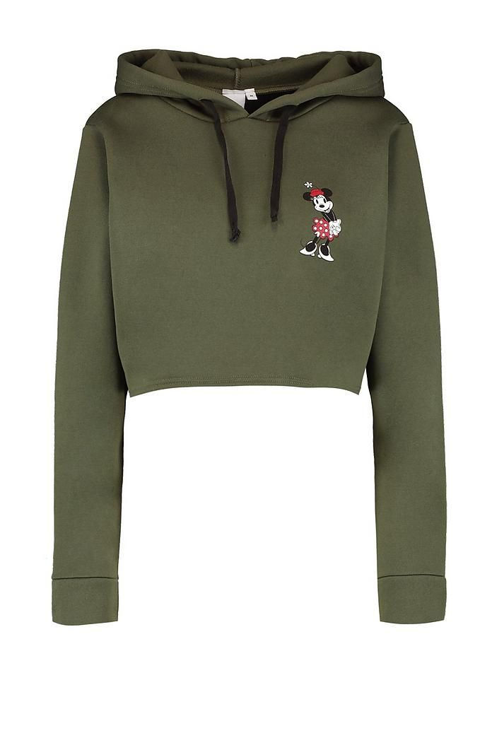 90e07002e3f Disney Minnie Graphic Cropped Hoodie