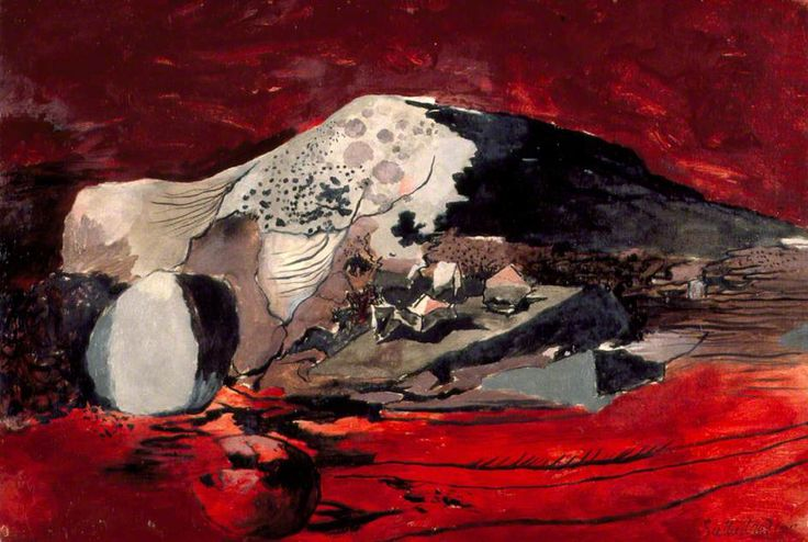 Graham Sutherland - Red Landscape (1942) Oil on canvas, 68 x 99.8 cm