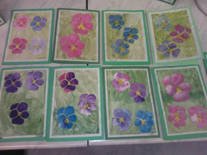 Paintings for Mother's Day.