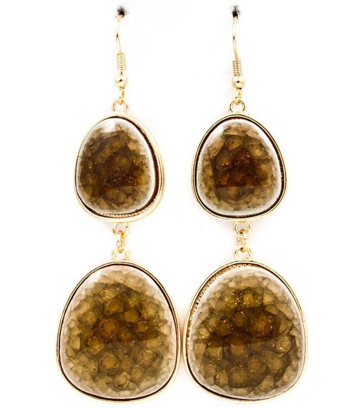 Natural Stone Double Drop Earrings: Drop Earrings, Double Drop, Natural Stones, Drop Natural, Products, Stones Double, Posh Double