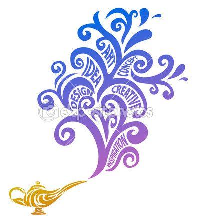 concepto creativo lámpara mágica — Ilustración de stock #8794587