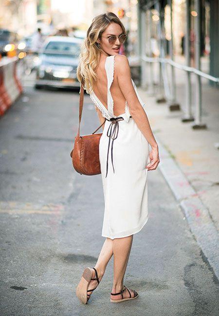 SUMMER LACE 夏を先取りする、ホワイトドレスの旬な着こなし方 キャンディス・スワンポール