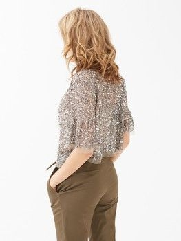 Giacca in tulle con paillettes 1
