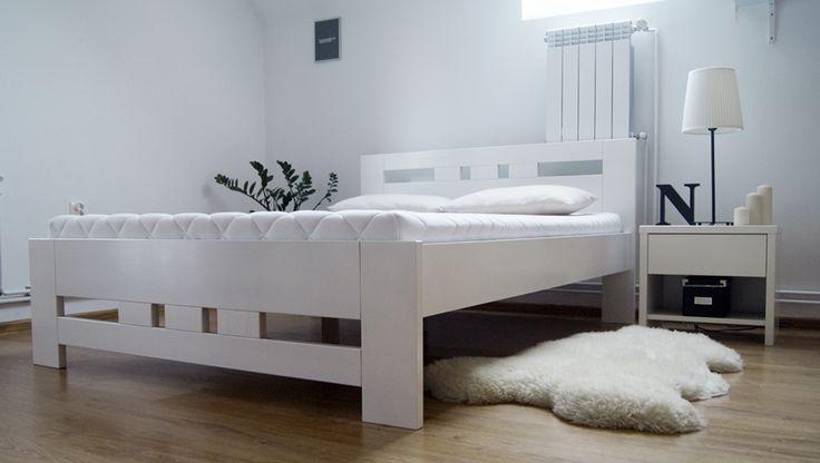 Łóżko drewniane bukowe 120 [76] Meble Drewniane - meble sosnowe producent