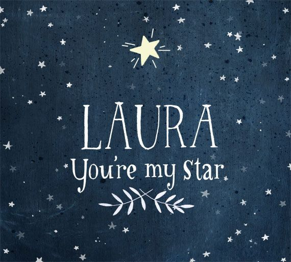 Why thank you.. You're My STAR Glow in the dark Personalized print by evajuliet, $32.00