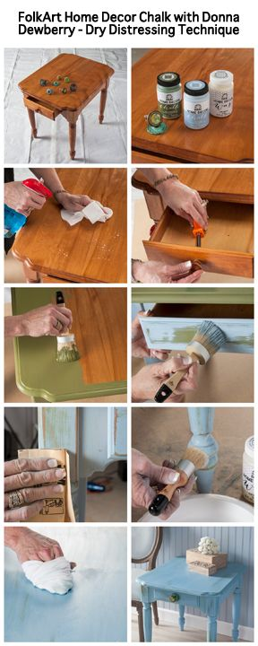 Dry Distressing with FolkArt Home Decor Chalk by Donna Dewberry