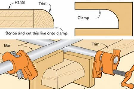 how to put metal banding on wood turnings