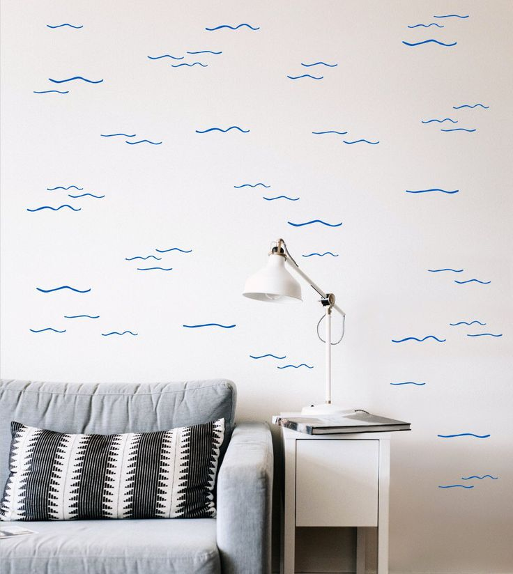 Waves Wall Decals – surf sticker – Waves#5 – removable wall decal – ocean wall decals – wave sticker – ocean sticker