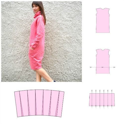 How to make a cocoon dress pattern. Full utorial on the blog. http://wp.me/p4OV6a-4P