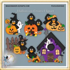 Halloween Crows Clipart