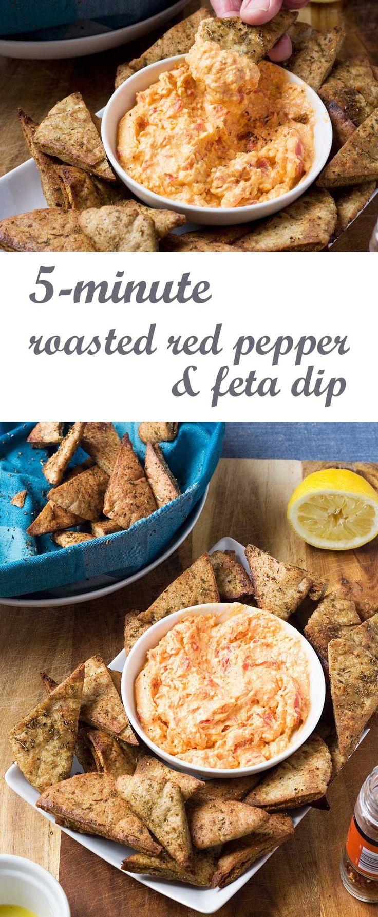 5-minute roasted red pepper and feta dip                                                                                                                                                                                 More
