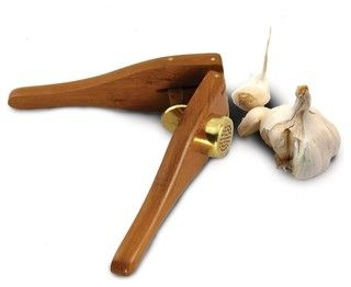 Enrico EcoTeak Wood Garlic Press - eclectic - specialty tools - by FactoryDirect2you