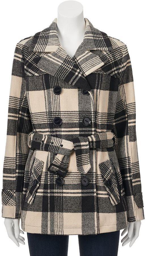 Juniors' Urban Republic Wool Blend Peacoat