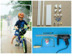 creative kid wash PVC pipe sprinkler