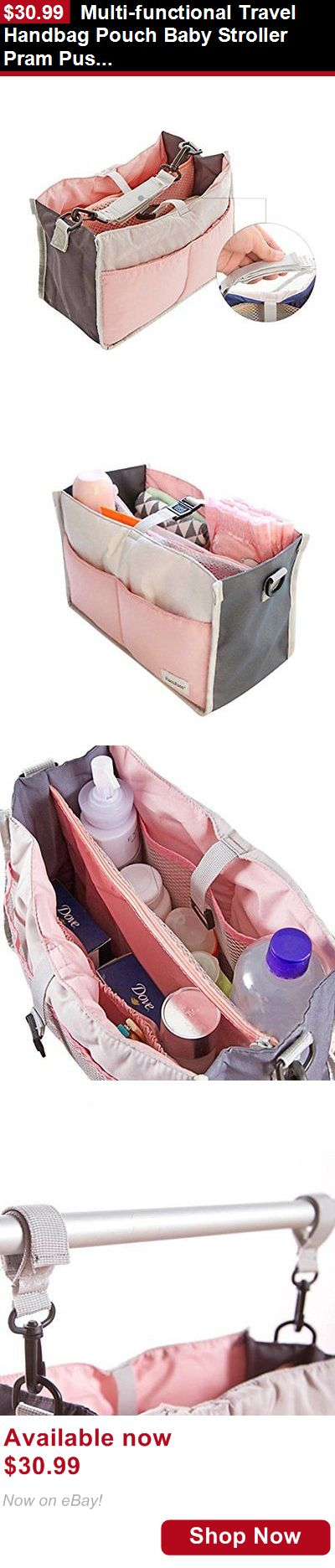 Organizers And Nets: Multi-Functional Travel Handbag Pouch Baby Stroller Pram Pushchair Hang Storage BUY IT NOW ONLY: $30.99