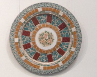 The Blues Stained Glass Mosaic Platter by BeautifullyBrokenMe