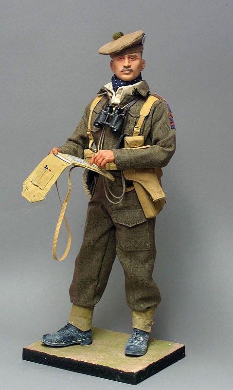 Captain , 5th Batt. Cameron Highlanders , 1943 . - Sixth Army Group