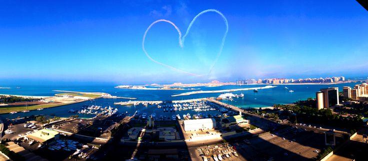 Dubai morning air display