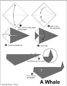 origami balena