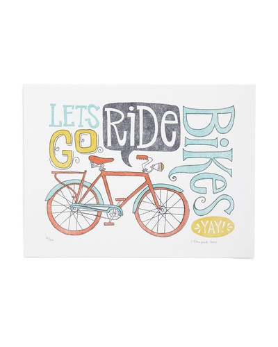 Training Wheels PrintBicycles, Letterpresses Prints, Riding Prints, Bikes Prints, Art, Riding Bikes, Bikes Riding, Lets Go, Riding A Bikes
