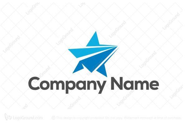 Logo for sale: Stars Travel Track Logo