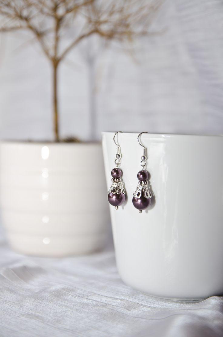 Swarovski Pearl earings