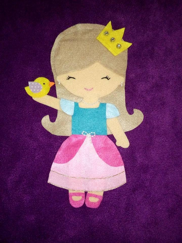 cojín princesa con pajarito