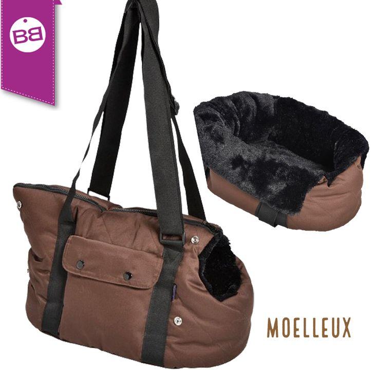 Hundetragetasche Moelleux - schnell umfunktionierbar in ein kleines kuscheliges Körbchen