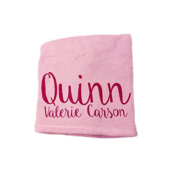 Girl Blanket Personalised Blanket Baby Blanket by TheUniqueCo