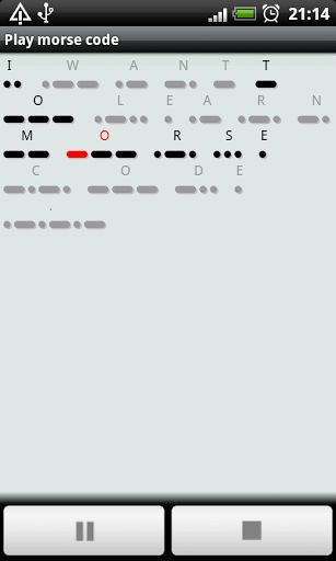 MorseCode Player is a tool for morse code making, playing and practicing.<br>It provides an easy way to learn morse code.<p><br>Features:<br>-Convert text to morse code.<br>-Autosave the converted morse code.<br>-Play morse code with audio.<br>-Highlight the playing morse code.<br>-Pause playing.<br>-Change the play speed.<br>-Practice input morse code.<br>-Calculate input accuracy rate.<br>-Export morse code audio to wav file.<br>-Copy the text to clipboard.<br>-Copy the morse code to…