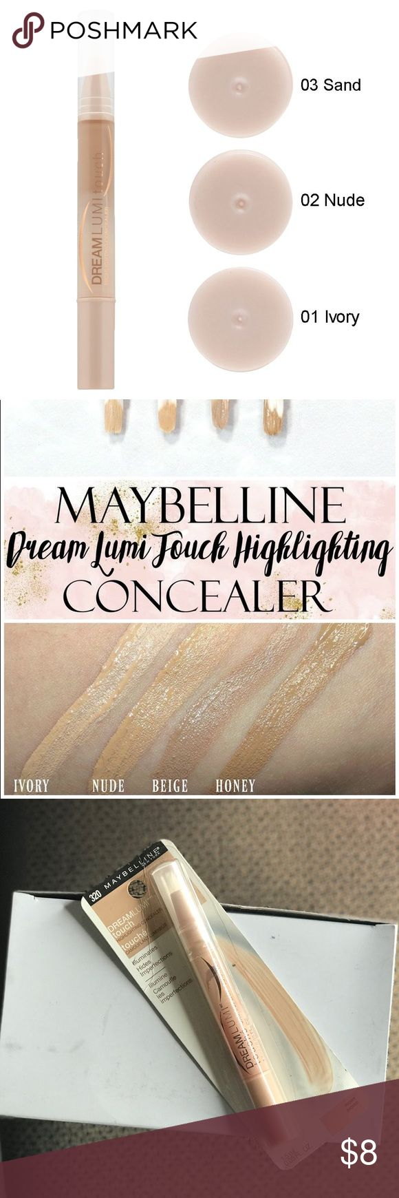 Maybelline New York Dream Lumi Touch Concealer Maybelline New York Dream Lumi Touch Highlight Concealer, Ivory. Brand new. Maybelline Makeup Concealer
