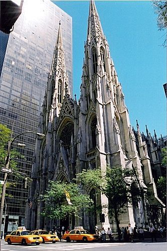 St Patrick's Cathedral, NYC Although it is across the street from the complex, it is still considered by many as part of Rockefeller Center