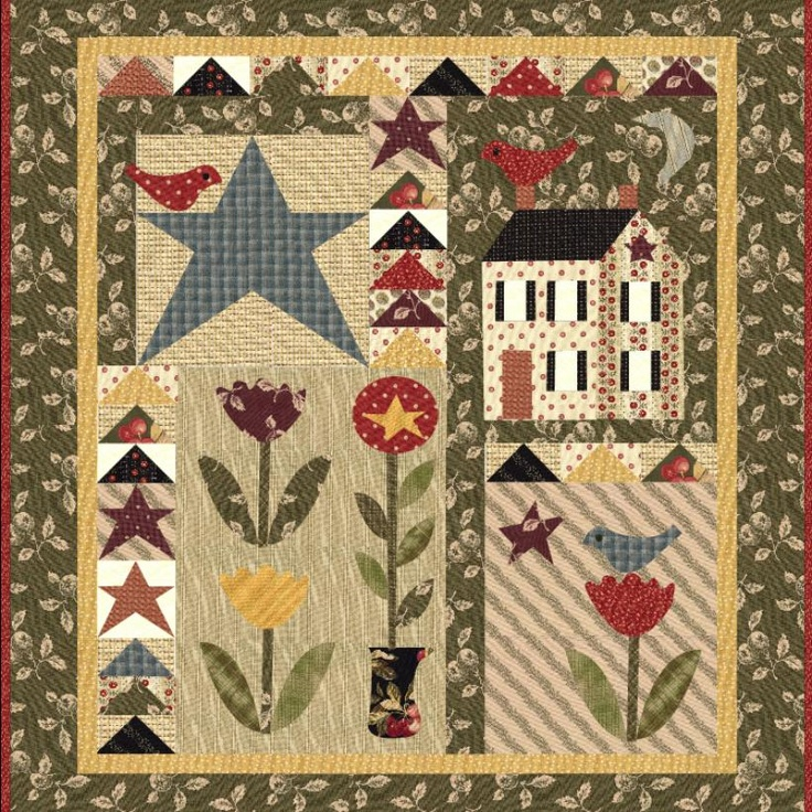 328 best Quilts ~ Small Wall Hangings images on Pinterest ... : quilted wall hanging kits - Adamdwight.com