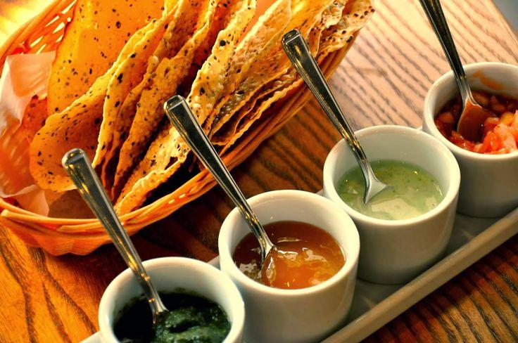 poppadom dips | Dips Salt'n Pepper Restaurant in London serving contemporary Pakistani ...
